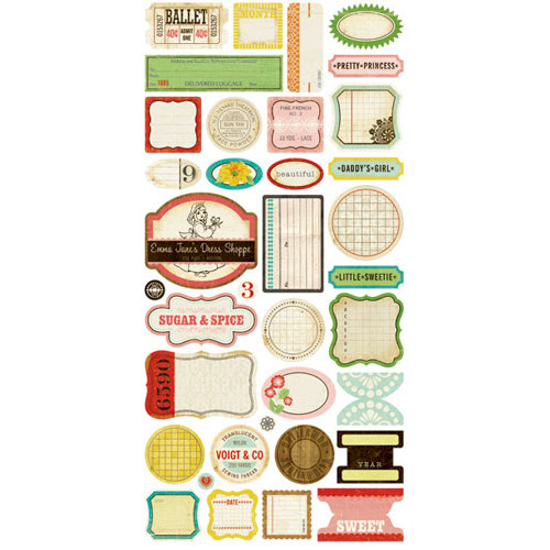 Crate Paper - Emma's Shoppe Collection - Cardstock Stickers - Phrase