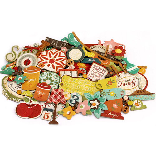 Crate Paper - Farmhouse Collection - Chipboard Stickers - Accents