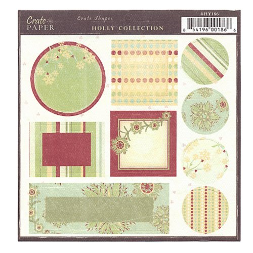 Crate Paper - Holly Shape Diecuts - Holly Collection, CLEARANCE