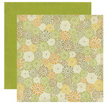 Crate Paper - Lemon Grass Collection - 12 x 12 Double Sided Textured Paper - Citrus