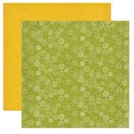 Crate Paper - Lemon Grass Collection - 12 x 12 Double Sided Textured Paper - Lime