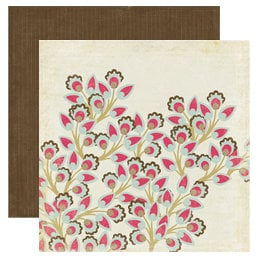 Crate Paper - Mia Collection - 12 x 12 Double Sided Textured Paper - Cherry Blossom
