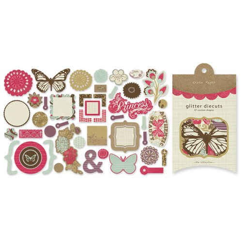 Crate Paper - Mia Collection - Glitter Die Cuts