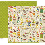 Crate Paper - Neighborhood Collection - 12 x 12 Double Sided Paper - Block Party