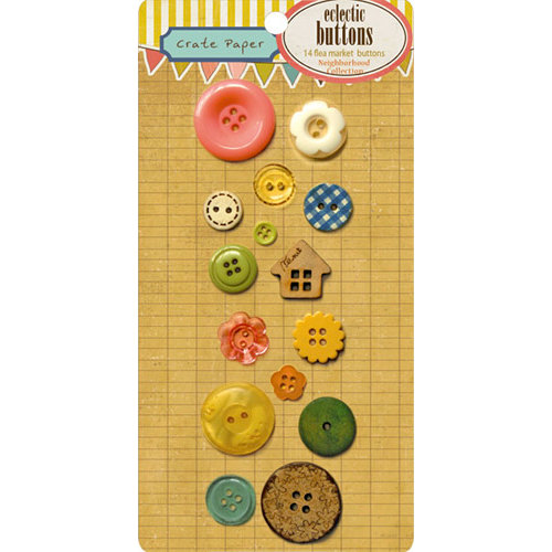 Crate Paper - Neighborhood Collection - Eclectic Buttons