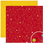 Crate Paper - North Pole Collection - Christmas - 12 x 12 Double Sided Paper - Sleigh Bells, CLEARANCE