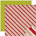 Crate Paper - North Pole Collection - Christmas - 12 x 12 Double Sided Paper - Peppermint, CLEARANCE