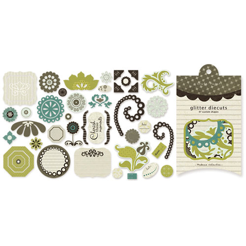 Crate Paper - Prudence Collection - Glitter Die Cuts, CLEARANCE