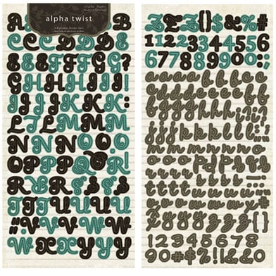 Crate Paper - Prudence Collection - Alphabet Stickers - Alpha Twist, CLEARANCE