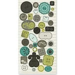 Crate Paper - Prudence Collection - Epoxy Buttons and Shapes, CLEARANCE