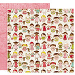 Crate Paper - Paper Doll Collection - 12 x 12 Double Sided Paper - Addi