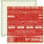 Crate Paper - Peppermint Collection - Christmas - 12 x 12 Double Sided Paper - St Nick