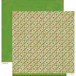 American Crafts - Crate Paper - Peppermint Collection - Christmas - 12 x 12 Double Sided Paper - Mint