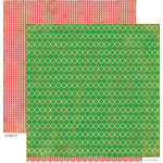 Crate Paper - Peppermint Collection - Christmas - 12 x 12 Double Sided Paper - Wintergreen