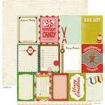 Crate Paper - Peppermint Collection - Christmas - 12 x 12 Double Sided Paper - Accent Cuts