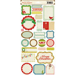 Crate Paper - Peppermint Collection - Christmas - Cardstock Stickers - Phrase