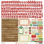 Crate Paper - Peppermint Collection - Christmas - Cardstock Stickers - Alphabet and Labels