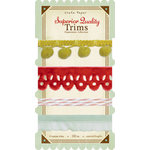 Crate Paper - Peppermint Collection - Christmas - Ribbon and Trims