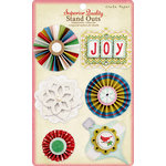 Crate Paper - Peppermint Collection - Christmas - 3 Dimensional Stickers - Stand Outs