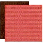 Crate Paper - Pink Plum Collection - 12 x 12 Double Sided Paper - Pink Cherry, CLEARANCE