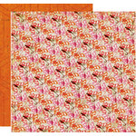 Crate Paper - Pink Plum Collection - 12 x 12 Double Sided Paper - Peach