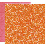 Crate Paper - Pink Plum Collection - 12 x 12 Double Sided Paper - Tangerine, CLEARANCE