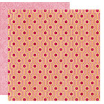 Crate Paper - Pink Plum Collection - 12 x 12 Double Sided Paper - Pomegranate, CLEARANCE