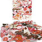 Crate Paper - Pink Plum Collection - Chipboard Stickers - Accents, CLEARANCE