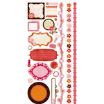 Crate Paper - Pink Plum Collection - Cardstock Stickers - Journal, CLEARANCE