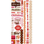 Crate Paper - Pink Plum Collection - Cardstock Stickers - Title, CLEARANCE
