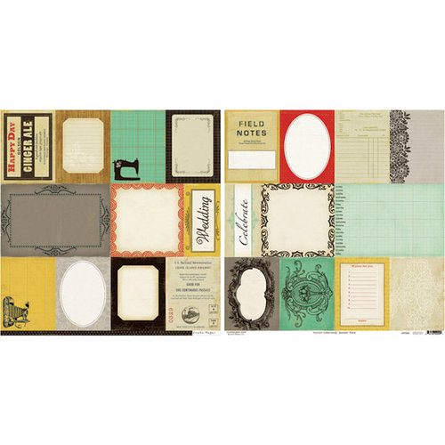 Crate Paper - Portrait Collection - 12 x 12 Double Sided Paper - Accent Cuts