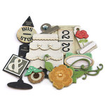 Crate Paper - Portrait Collection - Layered Chipboard - Buttons Felt and Rhinestone Accents