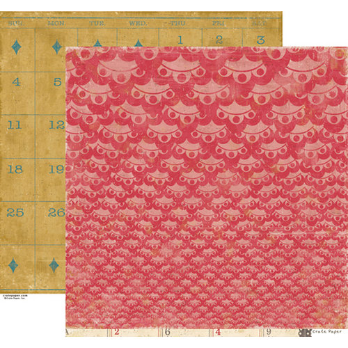 Crate Paper - Restoration Collection - 12 x 12 Double Sided Paper - Ruffles