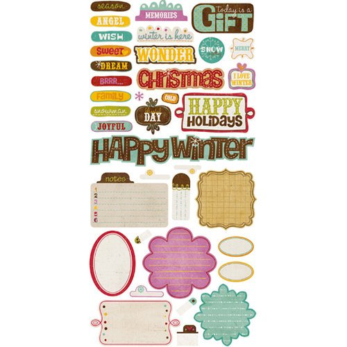 Crate Paper - Snow Day Collection - Christmas - Cardstock Stickers - Phrase