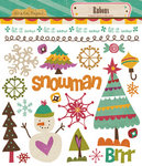 Crate Paper - Snow Day Collection - Christmas - Rub Ons