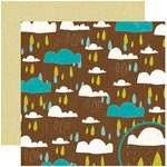 Crate Paper - Season Collection - 12 x 12 Double Sided Paper - Showers, CLEARANCE