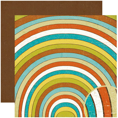 Crate Paper - Season Collection - 12 x 12 Double Sided Paper - Rainbow