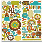Crate Paper - Season Collection - Chipboard Stickers - Accents, BRAND NEW
