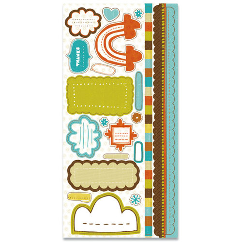 Crate Paper - Season Collection - Cardstock Stickers - Journal, CLEARANCE