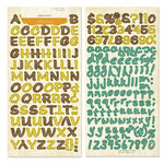 Crate Paper - Little Sprout Collection - Alphabet Stickers - Alpha Twist, CLEARANCE