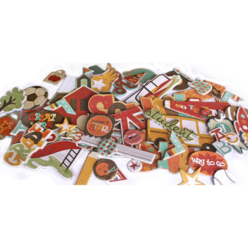 Crate Paper - School Spirit Collection - Chipboard Stickers - Accents, CLEARANCE