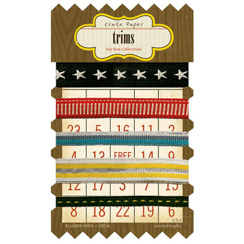 Crate Paper - Toy Box Collection - Ribbon and Trims