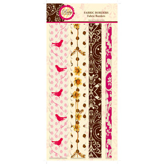 C R Gibson - Tapestry - Ruby Lemonade Collection - Fabric Border Stickers, CLEARANCE