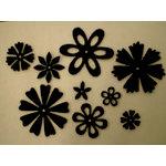 Creative Impressions - Felt Blossoms - Black