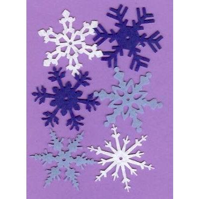 Creative Impressions - Felt Snowflakes - Winter - Large