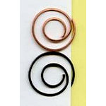 Creative Impressions - Spiral Clips - Antique and Copper