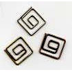Creative Impressions - Square Clips - Antique - Mini