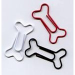 Creative Impressions - Dog Bone Clips - Red White and Black