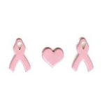 Creative Impressions - Brads - Awareness Ribbon - Pink
