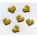 Creative Impressions - Brads - Heart - Brushed Gold - Mini